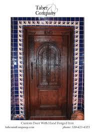 door wood iron hacienda solid wood door with glass and iron solid wood door