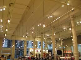 high ceiling dangling lights