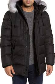 15 Best Winter Coats & Jackets for Men 2018 - Mens Parka, Peacoats ... & Andrew Marc Quilted Down Winter Jacket With Fox Fur Trim in Black – Buy It  Here Adamdwight.com