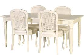 french chic rattan dining chair cream