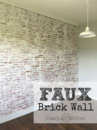 DIY faux brick walls using paneling and white paint (via  sawdust2stitches.com)