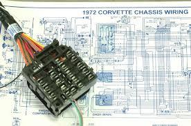 1972 corvette scarlett project car dash wiring harness installation 1967 corvette wiring diagram 1972 corvette dash guage custom wiring fuseblock