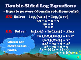 10 double sided log equations
