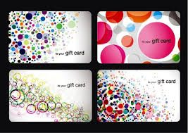 gift card template modern gift card templates vector set free vector in encapsulated