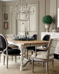 black and white french country dining room