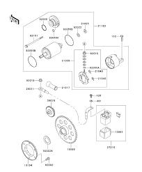 2001 kawasaki eliminator 125 bn125a4 starter motor parts best oem rh bikebandit 4 stroke engine diagram 4 stroke engine diagram