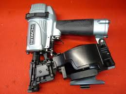 hitachi roofing nailer. like new hitachi nv45ae coil roofing nailer