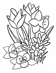 Small Picture Coloring Pages Spring Flowers Printable Page Of Archives Free