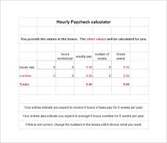 payday calculator 2018 9 hourly paycheck calculator free word excel pdf format
