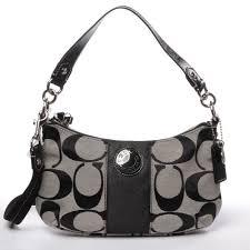 ... Coach Signature Stripe Demi Crossbody Handbag Bag Purse 19218 Black  White ...