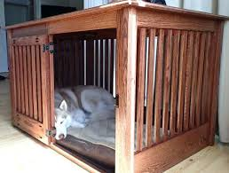Decorative Dog Crate Furniture Ideas Home Design Wooden End