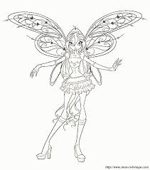 Coloring Fairy Page Winx Club Bloom Fairy Coloring Home