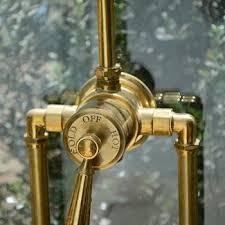 exposed shower fixture