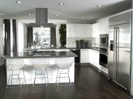 modern kitchen with dark vinyl plank flooring