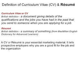 Curriculum Vitae Definition Simple Cv Means Resumes Unique Define Resume Also Or Meaning Curriculum