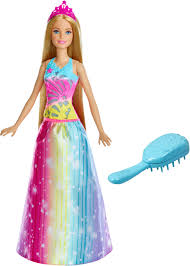 barbie barbie dreamtopia brush n sparkle princess doll multi frb12 best