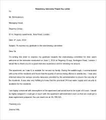 15 Thank You Letter For Interview Nursing Proposal Letter