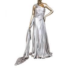 Reem Acra Size Chart Reem Acra Metallic One Shoulder Dress