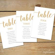 Editable Seating Chart Wedding Caramel Gold Seating Chart Template Instant Download