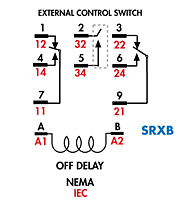 item tdrsrxb 120v tdrsrxb blade style time delay relays dpdt tdrsox srxb time delay relays wiring diagram