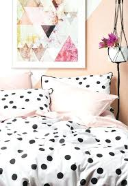 white and pink bedding sets large polka dots with a black edge and pink bedding set