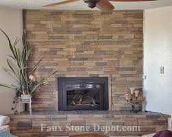 project completed the completed faux stone fireplace