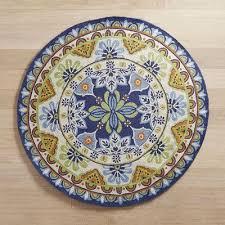medallion blue 639 round rug pier 1 imports pier one round outdoor rugs