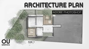 Architecture Design Photoshop Easy Architecture Plan In Adobe Photoshop