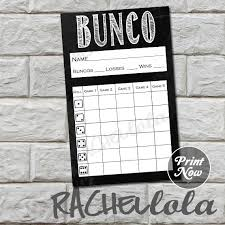 Bunco Score Sheets Template Mesmerizing Chalkboard Bunco Score Card Winter Score Sheet Spring Bunko Etsy