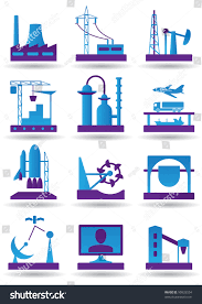 Difference Between Heavy Industry And Light Industry Plants Light Heavy Industry Vector Illustration Technology
