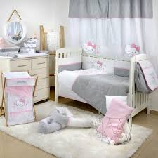 hello kitty stars crib bedding set