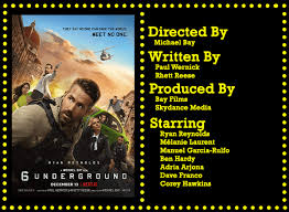 Only on netflix, december 13. 6 Underground 2019 Bury It Movie Meister Reviews