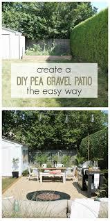 create a diy pea gravel patio the easy