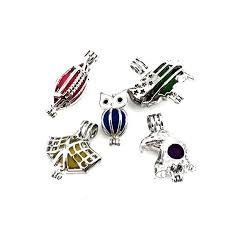 details about usa theme k22141 american flag map eagle owl pearl cage locket pendant charms