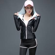 sport type running yoga sports outdoor project hiking camping running color black pink size s m l xl package includes 1 yoga jacket