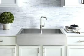 stainless steel farm sinks from via tall a great 33 optimum stainless steel farmhouse sink j6281817