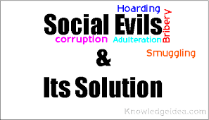 esssay on social evils and its solution knowledgeidea