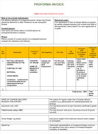 Pro Forma Document Examples Proforma Format Konmar Mcpgroup Co