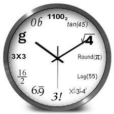 creative math formula number design wall clock mathematics function