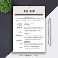 Free Modern Resume Template Word Professional Resume Template Word Cv Template Free Cover Letter