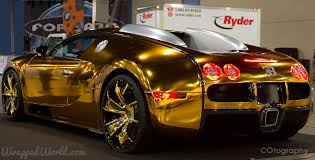 Bugatti Veyron Gold Wrapped For US Rapper Flo Rida  B