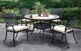 aluminum frame round dining table