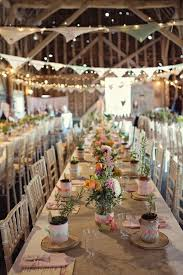 indoor barn wedding decor ideas with light barn wedding lighting