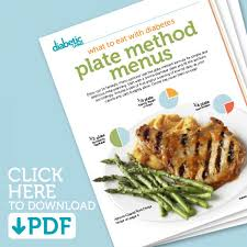 diabetes food menus plate method menus mini cookbook diabetic living online