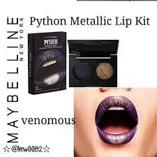 maybelline python metallic lip kit venomous firm