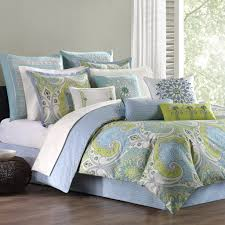 blue green paisley comforter set add