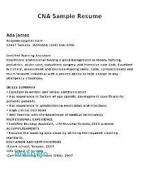 Cna Sample Resume Gorgeous Cna Sample Resume Mkma