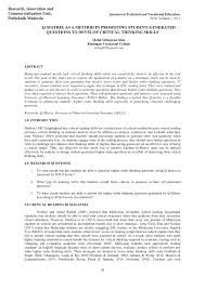 Essay About Critical Thinking Essay About Critical Thinking Skills Custom Paper Sample