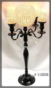 black candelabras 36 inch tall w crystal ball