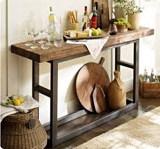 wrought iron and wood furniture. Griffin Reclaimed Wood And Wrought Iron Console Table From Pottery Barn Metal Furniture A